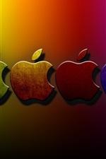 3D Apple fundo colorido