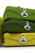 Preview iPhone wallpaper 3D Bags
