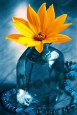 Preview iPhone wallpaper 3D Flower Bottle