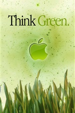 Preview iPhone wallpaper Apple Think Green