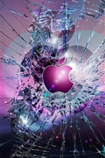 Preview iPhone wallpaper Apple broken screen background