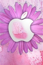 Preview iPhone wallpaper Apple pink flowers