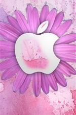 애플 핑크색 꽃