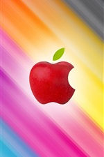 Apple corta fundo colorido