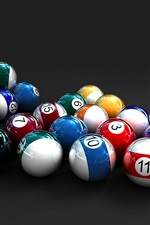 Preview iPhone wallpaper Colorful 3D Billiards