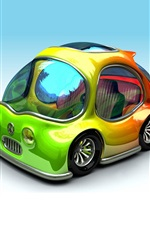 Preview iPhone wallpaper Colorful 3D car