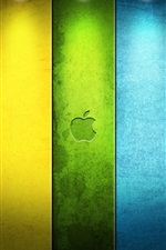 Preview iPhone wallpaper Colorful Apple under the spotlight