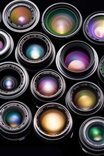 Preview iPhone wallpaper Colorful combination of camera lens