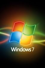 미리보기 iPhone 배경 화면 화려한 곡선 Windows7