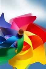 Preview iPhone wallpaper Colorful paper windmill