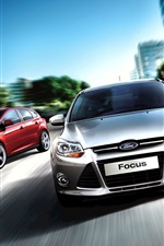 Preview iPhone wallpaper Ford Focus Sedan 2011