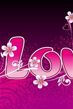 Preview iPhone wallpaper Love and love the flowers around the heart shaped