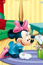 Preview iPhone wallpaper Mickey and Minnie and pets