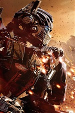 Preview iPhone wallpaper Optimus Prime and Bumblebee in Transformers 3