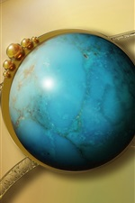 Preview iPhone wallpaper Sapphire 3D Earth