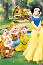 Preview iPhone wallpaper Snow White and the Seven Dwarfs