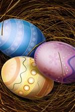 Aperçu iPhone fond d'écranTrois oeufs de Pâques