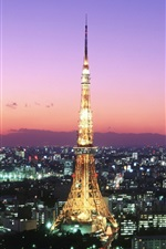 Preview iPhone wallpaper Tokyo Tower
