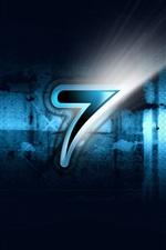 Preview iPhone wallpaper Windows7 three dimensional blue black