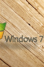Windows7 fundo de madeira