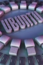 Preview iPhone wallpaper 3D Ubuntu