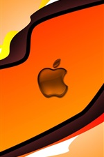 Preview iPhone wallpaper Apple orange background