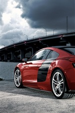 Preview iPhone wallpaper Audi R8 red