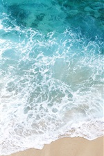 Preview iPhone wallpaper Beach side of the waves