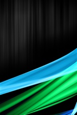 Blue green abstract curve