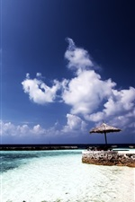 Preview iPhone wallpaper Chaaya reef beach