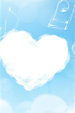 Preview iPhone wallpaper Cloud and music heart love