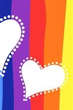 iPhone fondos de pantalla Antecedentes de colores amor del corazón