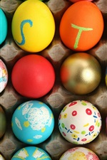Preview iPhone wallpaper Colorful Easter Egg