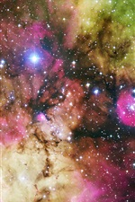 Preview iPhone wallpaper Colorful Galaxy Hubble