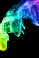 Preview iPhone wallpaper Colorful Smoke