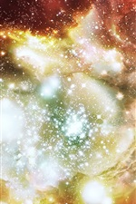 Preview iPhone wallpaper Colorful Star Universe Hubble