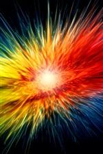 미리보기 iPhone 배경 화면 다채로운 발발