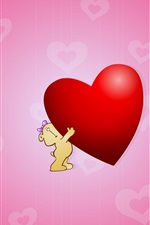 Preview iPhone wallpaper Cute Hug Love Heart