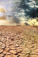 Preview iPhone wallpaper Dry land