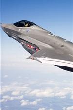 푸른 하늘에서 F - 35 전투기