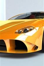 Vorschau des iPhone Hintergrundbilder Ferrari gelb