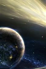 Preview iPhone wallpaper Flying comet