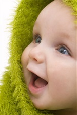 Preview iPhone wallpaper Green Scarf Cute Baby