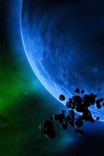 Luz verde e do planeta azul