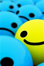 Preview iPhone wallpaper Happy smiling faces 3D