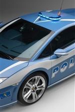 Preview iPhone wallpaper Lamborghini police car