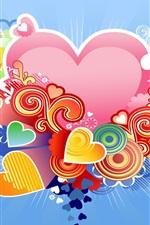 Amor em forma de coração azul