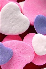 Preview iPhone wallpaper Love heart-shaped candy
