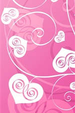 Preview iPhone wallpaper Love heart-shaped leaves