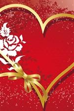 Fita amor em forma de coração